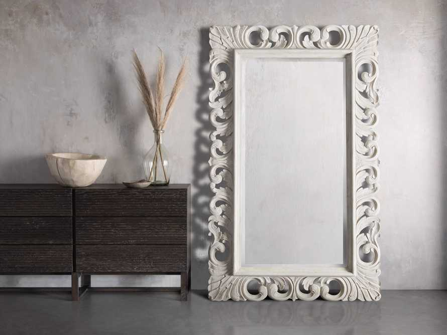 Large Porter Wall Mirror in Flax, slide 1 of 3