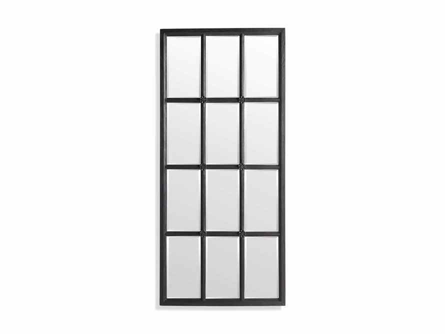 TEAK 12-PANEL FLOOR MIRROR IN BLACK, slide 5 of 5