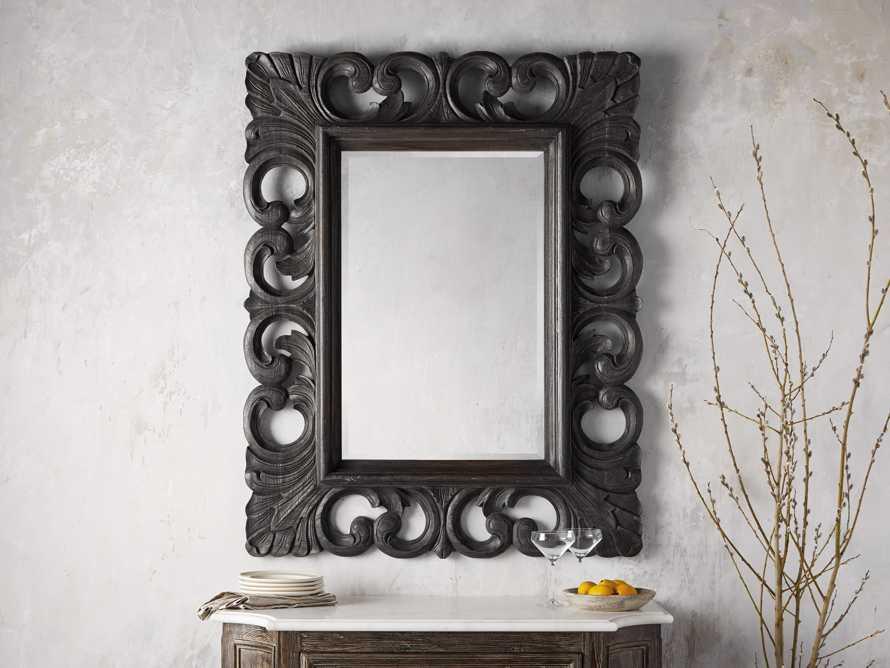"Porter 52"" Wall Mirror in Black, slide 1 of 4"