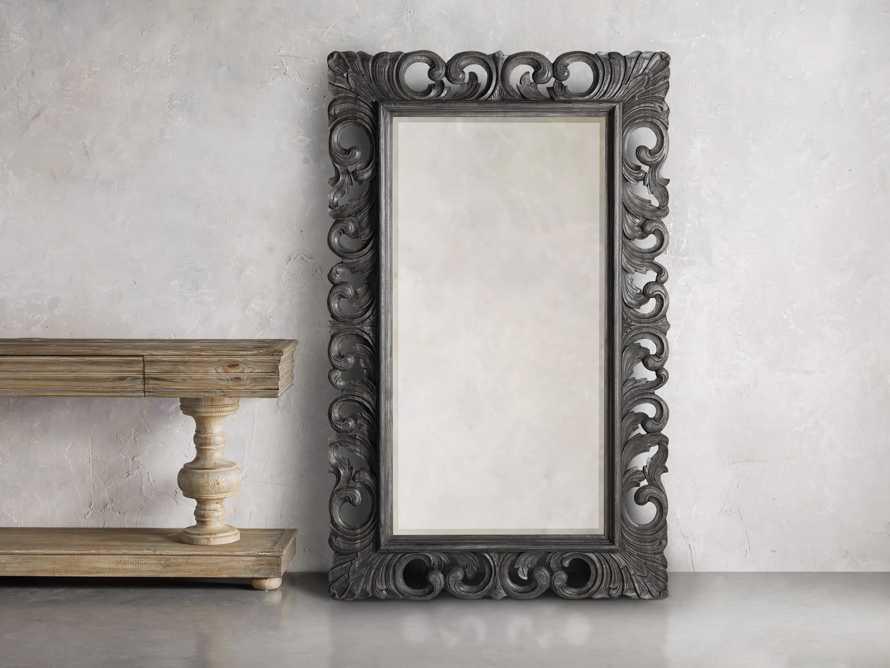 """Porter 84"""" Floor Mirror in Black, slide 1 of 5"""