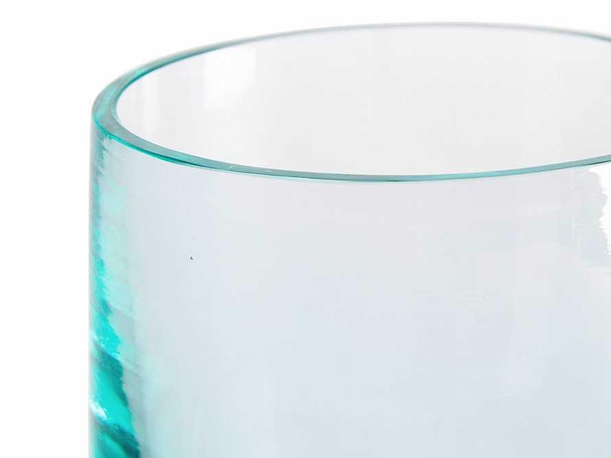 Light Blue Glass Votive Holder Set (Set of 6)