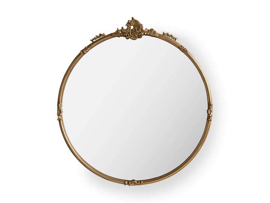 Amelie Round Wall Mirror in Gold, slide 2 of 2