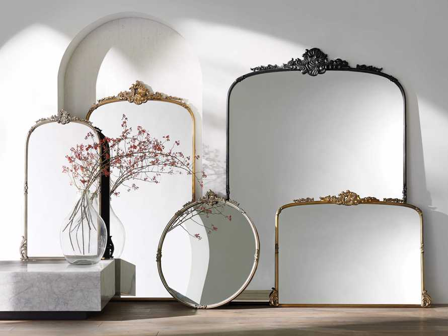 "AMELIE 36"" WALL MIRROR IN SILVER, slide 3 of 4"