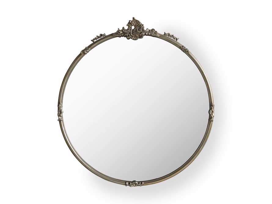 "AMELIE 36"" WALL MIRROR IN SILVER, slide 4 of 4"