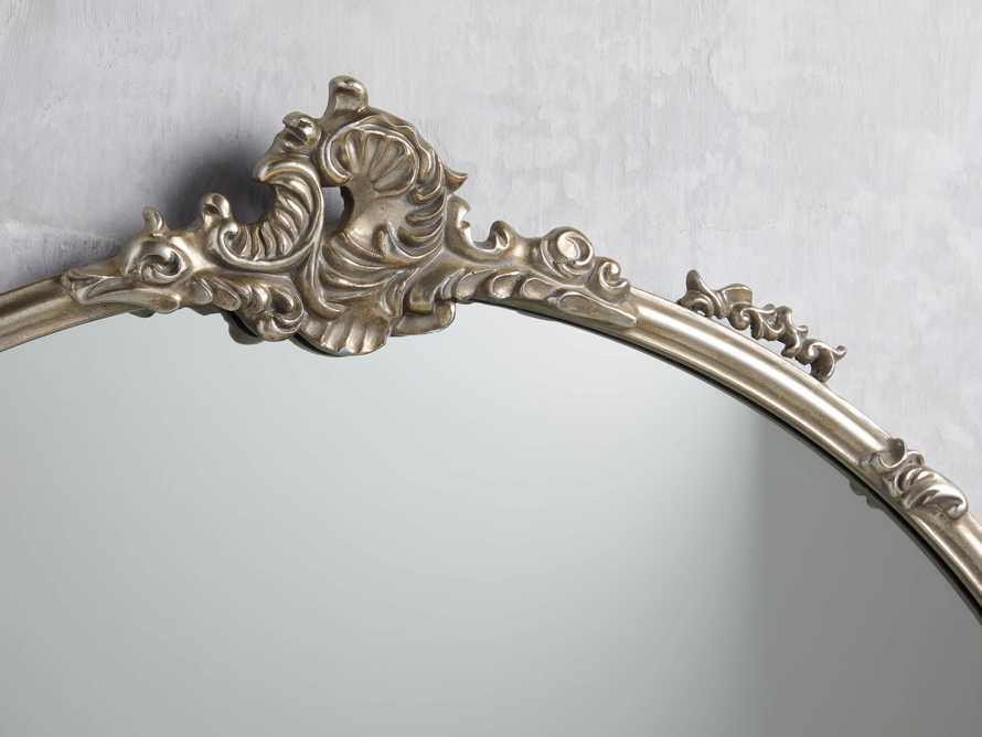 "AMELIE 36"" WALL MIRROR IN SILVER, slide 2 of 4"