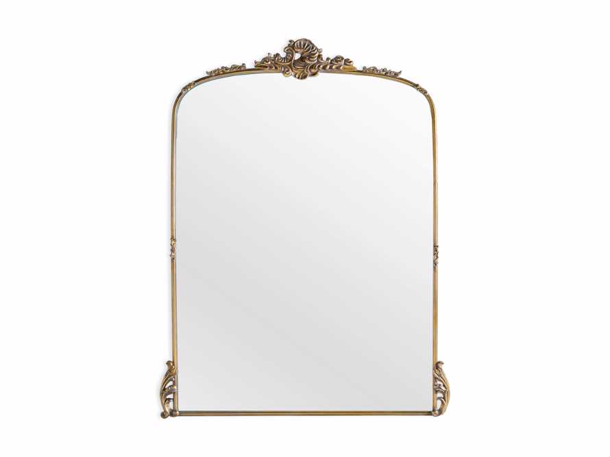 "Amelie 64"" Wooden Arched Grand Floor Mirror in Gold, slide 4 of 5"