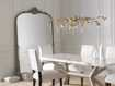 "Amelie 64"" Wooden Arched Grand Floor Mirror in Gold"