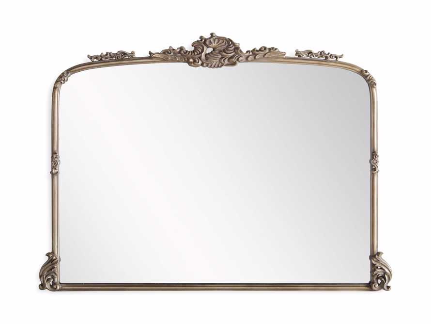 "Amelie 51.5"" Wooden Arched Dresser Mirror in Gold, slide 3 of 4"