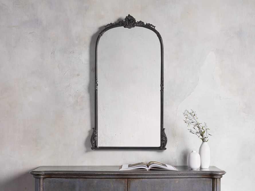 """Amelie 28"""" Wall Mirror in Black, slide 1 of 4"""