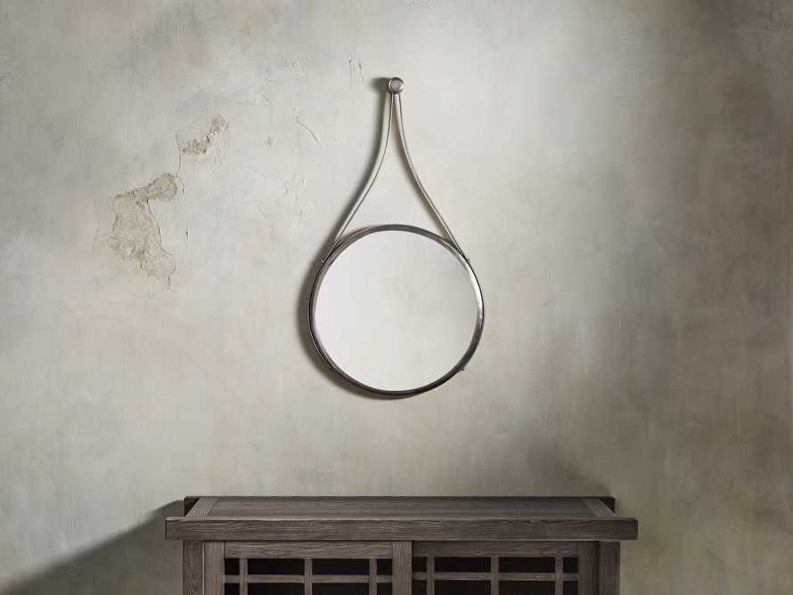 "Francesco 20"" Mirror in Antique Nickel"