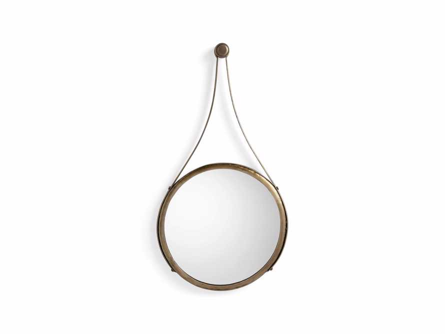 "Francesco 16"" Mirror in Antique Brass"