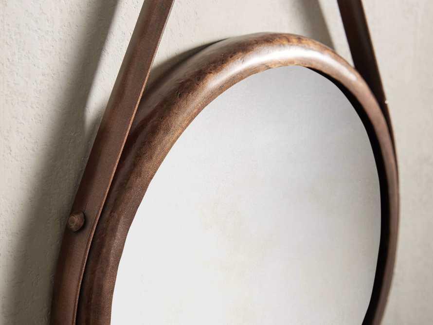 """Francesco 12"""" Mirror in Antique Copper"""