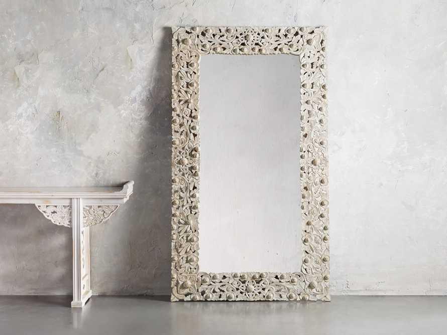 """48"""" Flourish Mirror in White, slide 1 of 3"""