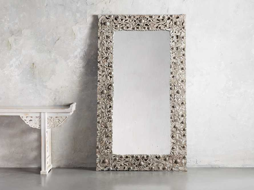 Flourish Mirror in Grey, slide 1 of 3