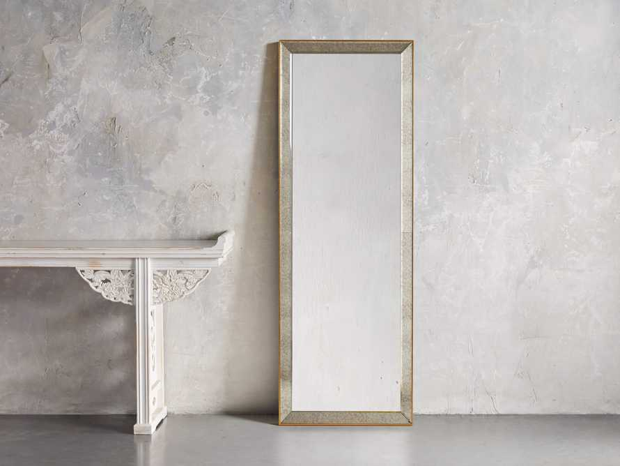 """MAISON 80"""" NARROW MIRROR IN GOLD, slide 1 of 3"""