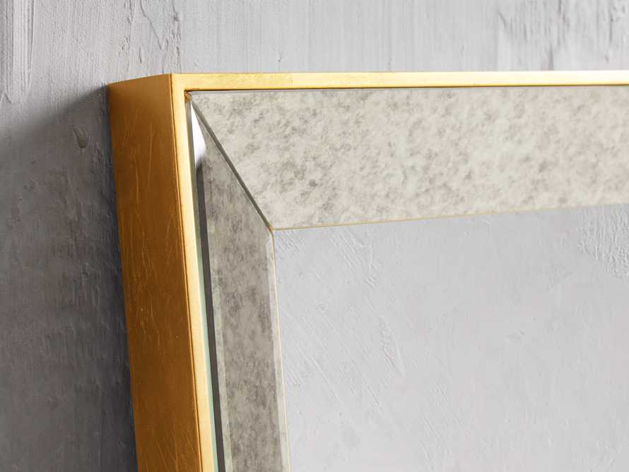 """MAISON 80"""" NARROW MIRROR IN GOLD, slide 2 of 3"""