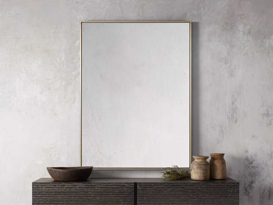 Linnea Mirror in Brass 36x48, slide 1 of 3
