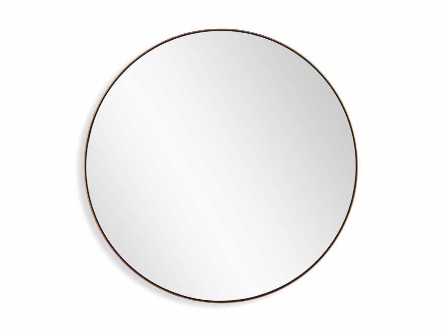 Linnea Round Mirror in Brass, slide 5 of 5