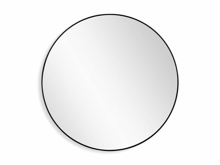 """47"""" Linnea Round Mirror in Black, slide 3 of 3"""