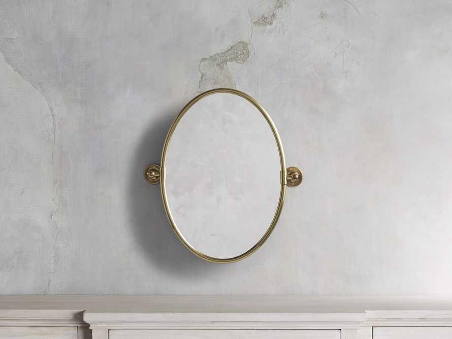 Swivel Oval Mirror, slide 1 of 3