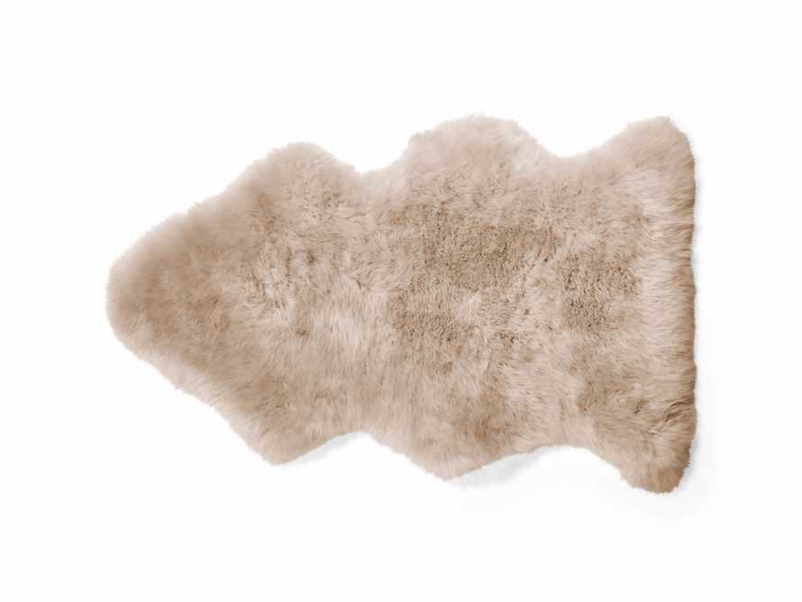 Sheepskin Small Wool Throw In Linen, slide 3 of 4