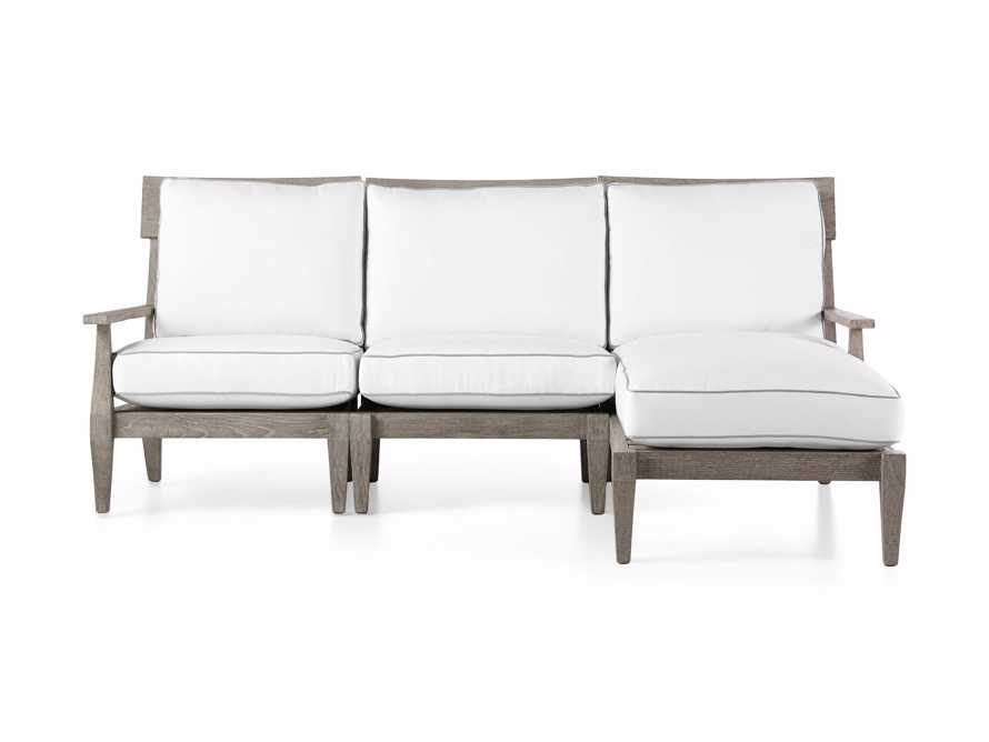 "Adones Outdoor 86.25"" Three Piece Reverse Sectional, slide 2 of 5"