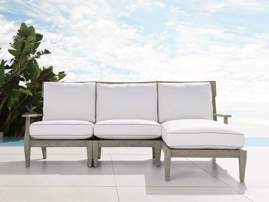"Adones Outdoor 86.25"" Three Piece Reverse Sectional, slide 1 of 5"