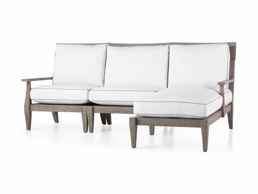 "Adones Outdoor 86.25"" Three Piece Reverse Sectional, slide 3 of 5"