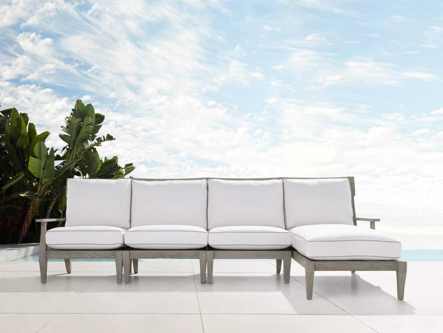 """Adones Outdoor 114.75"""" Four Piece Sectional, slide 1 of 4"""