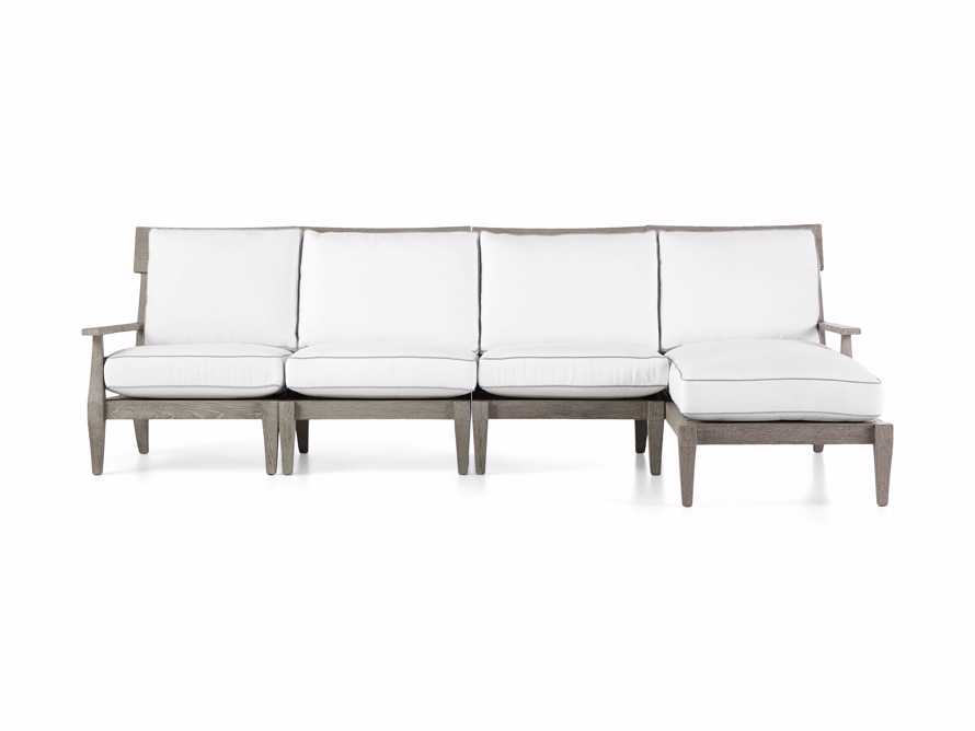 """Adones Outdoor 114.75"""" Four Piece Sectional, slide 2 of 4"""