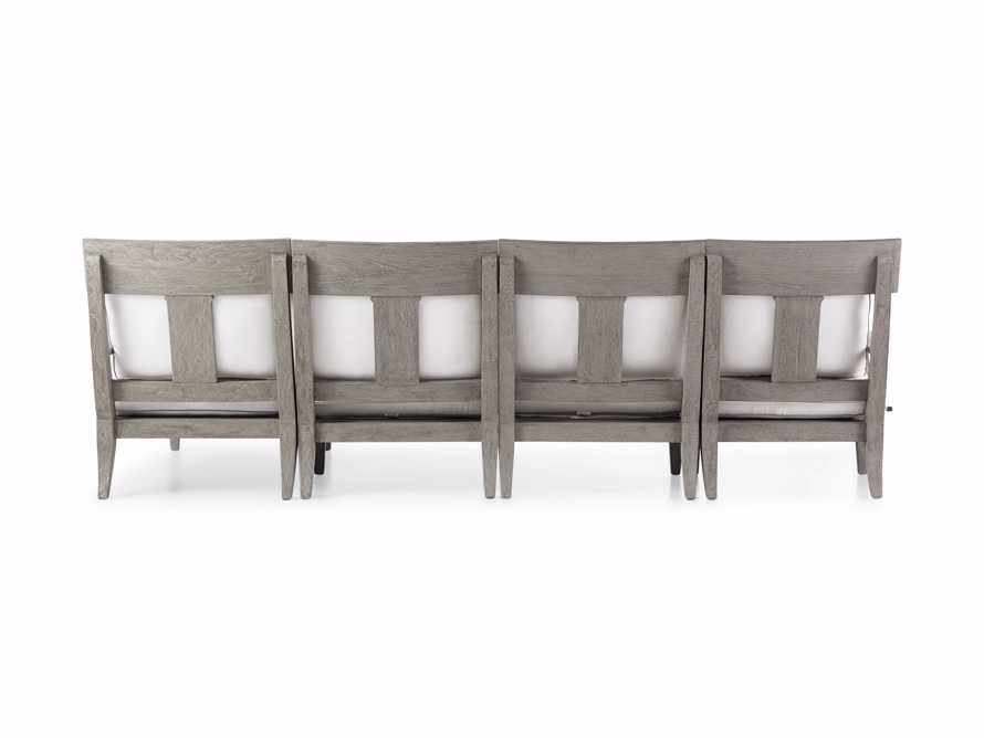 """Adones Outdoor 114.75"""" Four Piece Sectional, slide 4 of 4"""