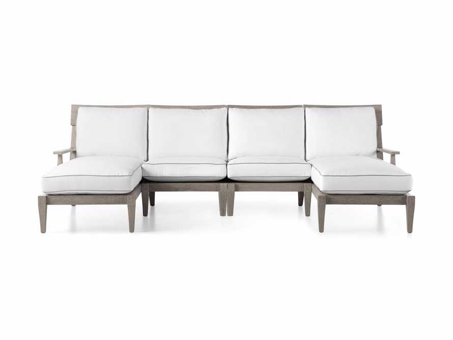 "Adones Outdoor 114"" Four Piece Double Chaise Sectional, slide 2 of 5"