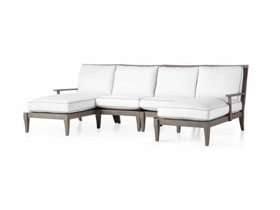 "Adones Outdoor 114"" Four Piece Double Chaise Sectional, slide 3 of 5"