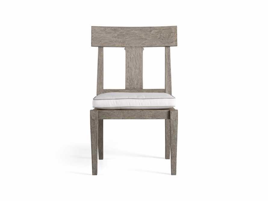 Adones Outdoor Dining Side Chair contrast welt