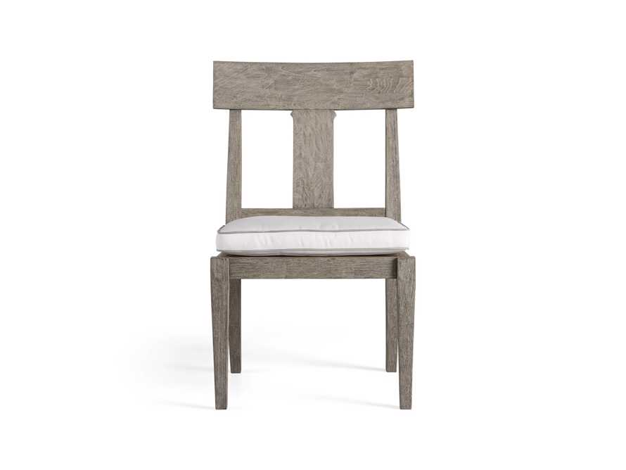 Adones Outdoor Dining Side Chair with Contrast Welt, slide 2 of 4