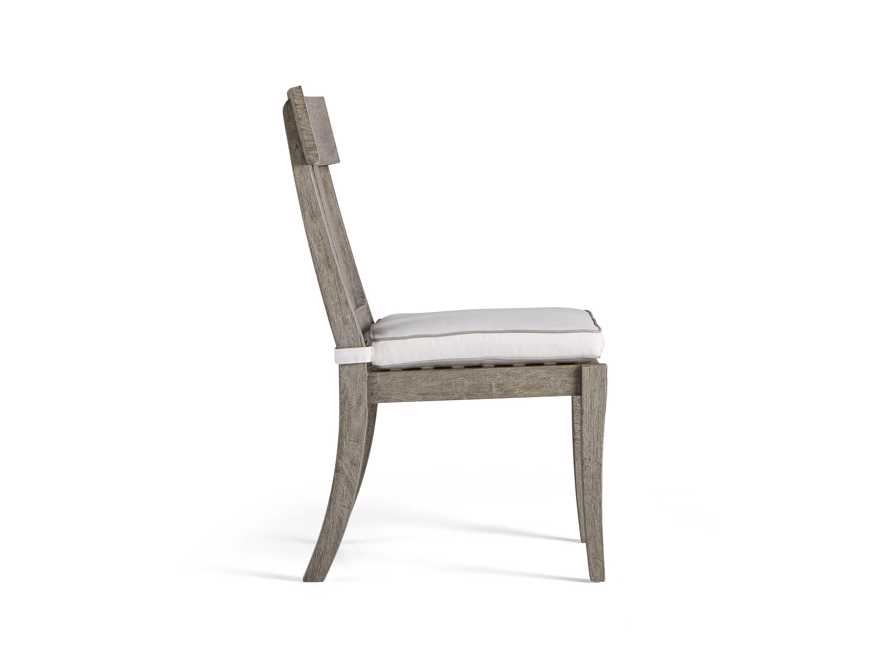 Adones Outdoor Dining Side Chair with Contrast Welt, slide 3 of 4