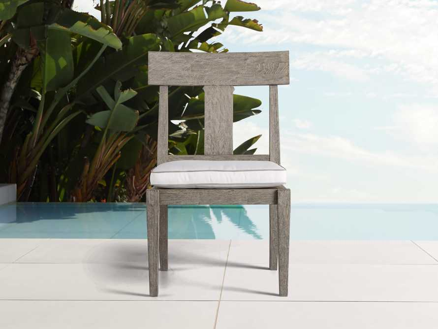 Adones Outdoor Dining Side Chair with Contrast Welt, slide 1 of 4