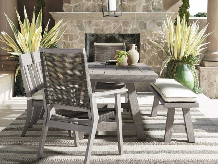 Adones Outdoor Dining Side Chair with Contrast Welt, slide 4 of 4