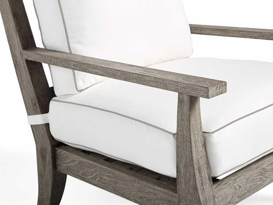 Adones Outdoor Lounge Chair Contrast Welt, slide 5 of 8