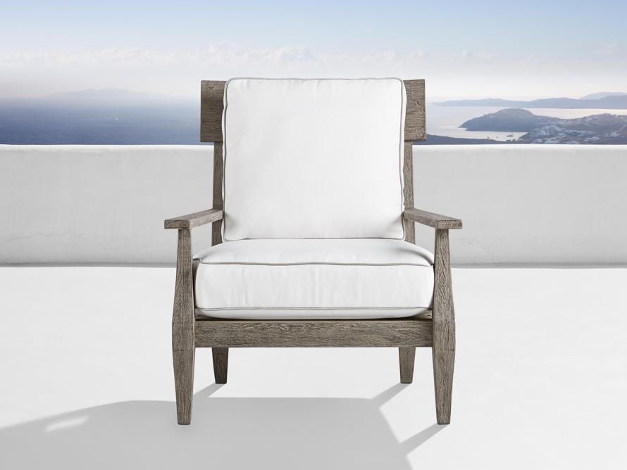 Adones Outdoor Lounge Chair Contrast Welt, slide 1 of 8
