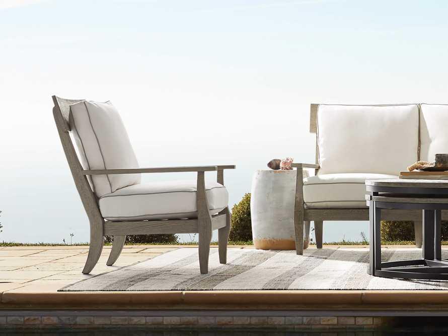 Adones Outdoor Lounge Chair Contrast Welt, slide 8 of 8