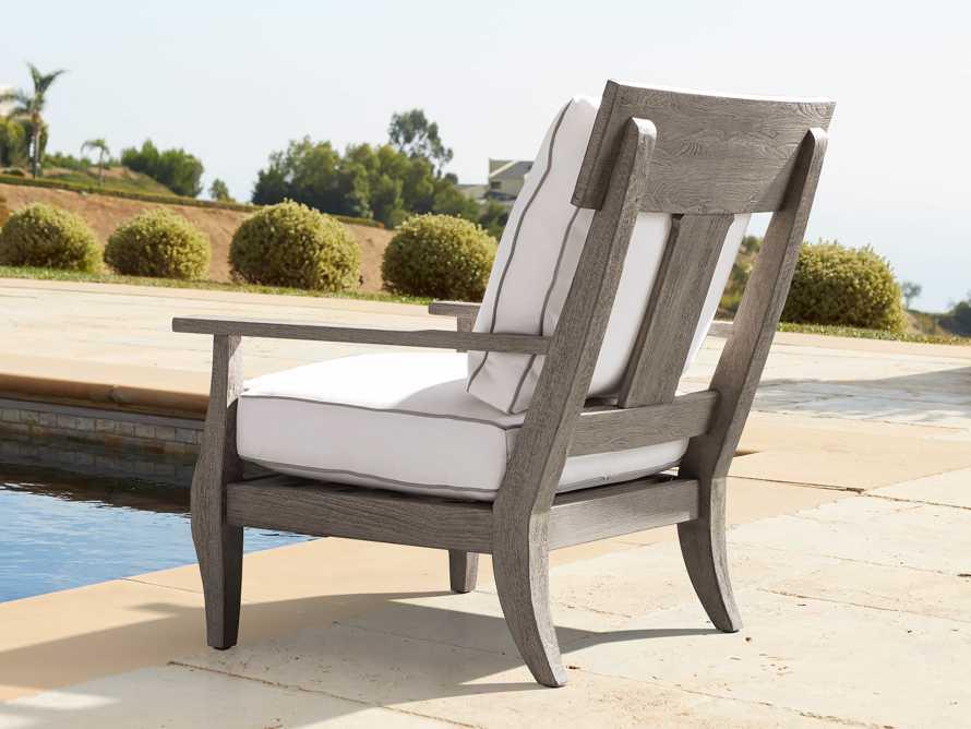 Adones Outdoor Lounge Chair Contrast Welt, slide 7 of 8