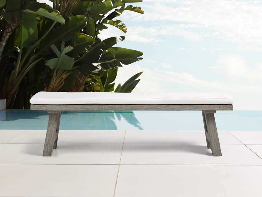 """Adones Outdoor 70"""" Dining Bench Replacement Cushion"""