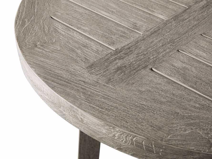 """Adones Outdoor 36"""" Teak Counter Table in Driftwood Grey, slide 3 of 4"""