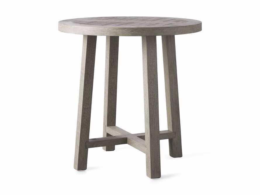 """Adones Outdoor 36"""" Teak Counter Table in Driftwood Grey, slide 2 of 4"""