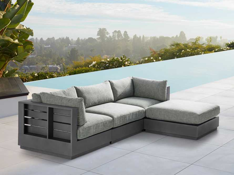 Bal Harbour Outdoor Aluminum Four Piece Sectional, slide 1 of 6