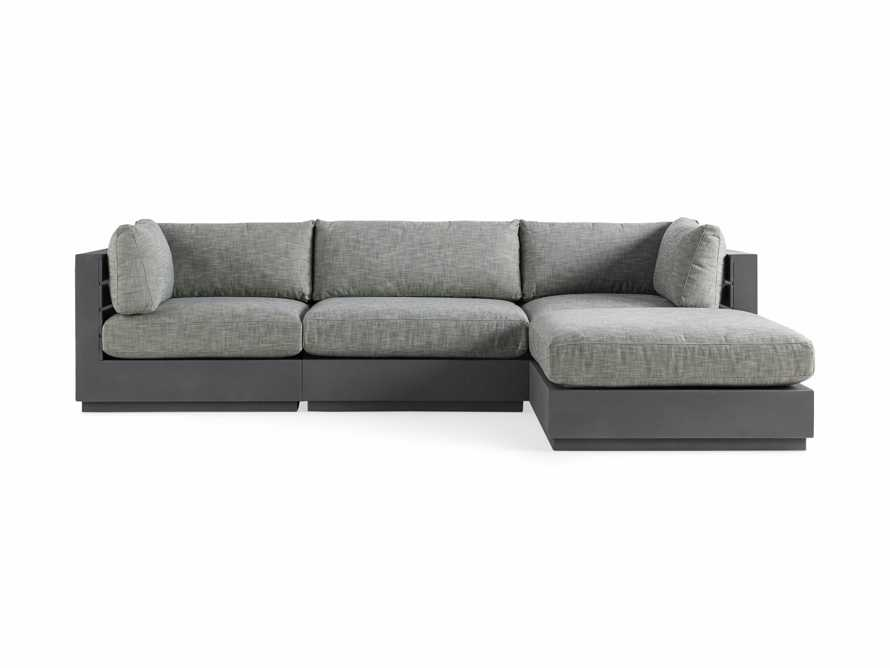 Bal Harbour Outdoor Aluminum Four Piece Sectional, slide 2 of 6
