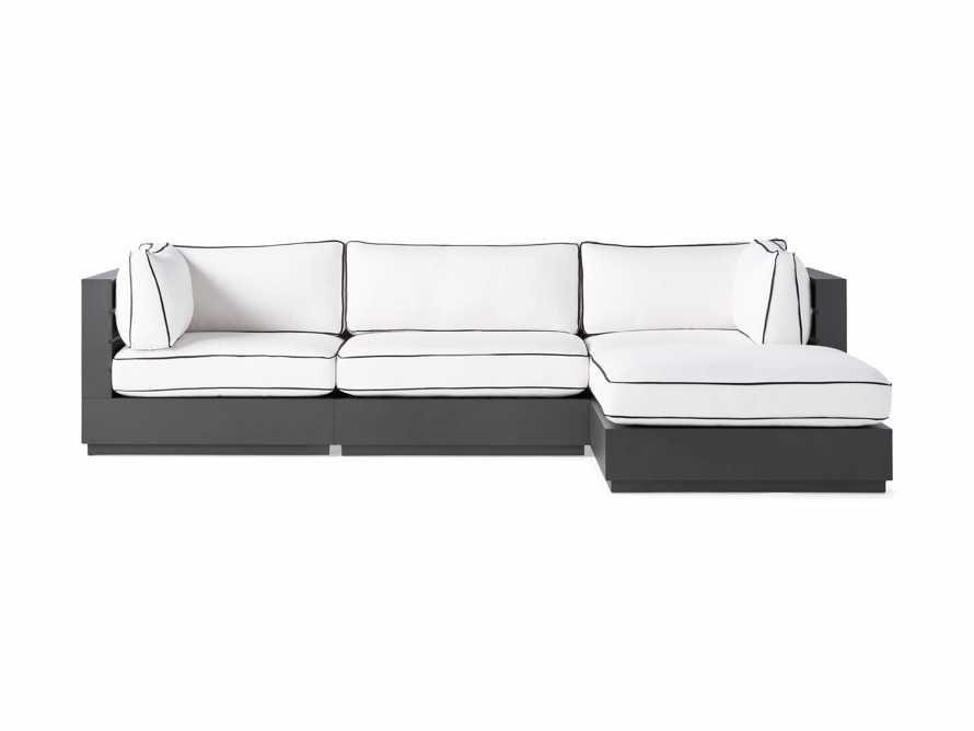 """Bal Harbour Outdoor Aluminum 117"""" Four Piece Sectional with Flange, slide 3 of 8"""