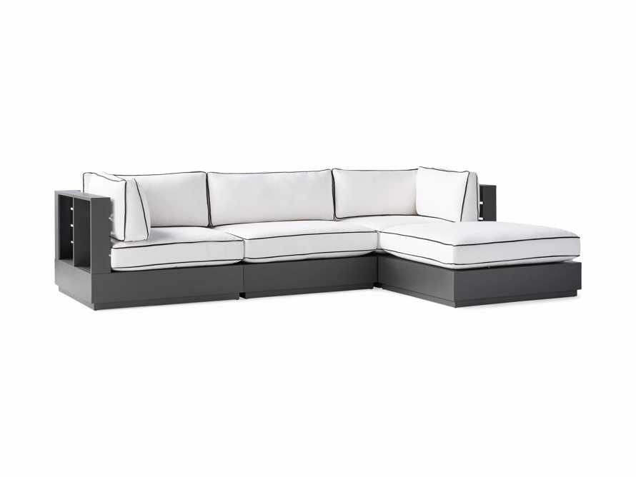 """Bal Harbour Outdoor Aluminum 117"""" Four Piece Sectional with Flange, slide 5 of 8"""