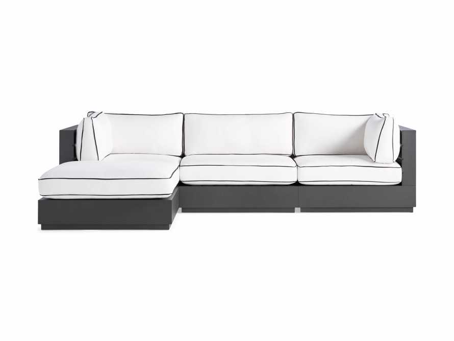 """Bal Harbour Outdoor Aluminum 117"""" Four Piece Sectional with Flange, slide 4 of 8"""